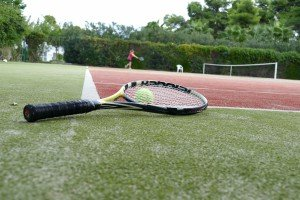 Claudi gives it a TRI - Tennistraining Griechenland