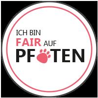 Claudi gives it a TRI - Fair auf Pfoten Siegel