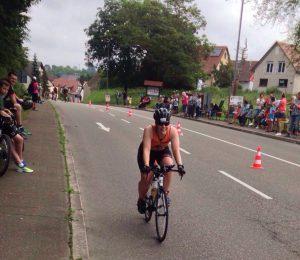 Claudi gives it a TRI - Radstrecke Kraichgau