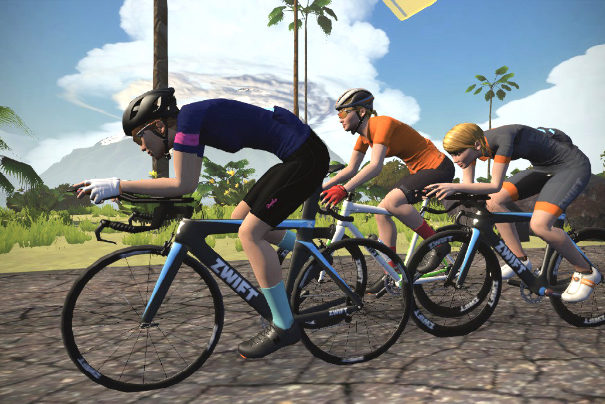 Drei Avatare in Zwift