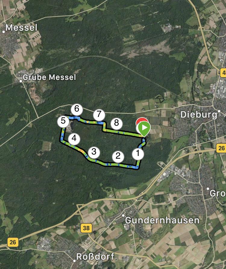 Wanderung bei Messel in Hessen