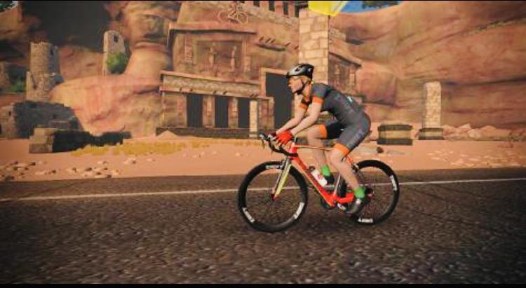 rotes virtuelles Fahrrad