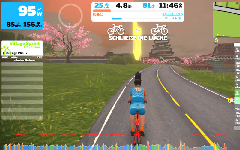 Pagode in Zwift