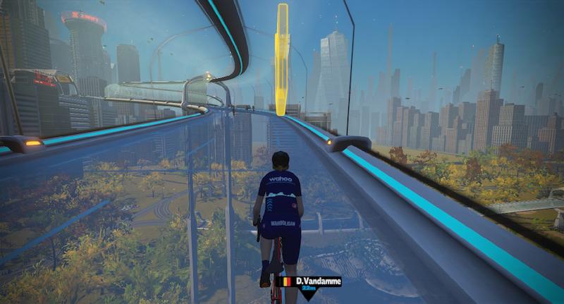 Zwift NYC Glasbrücke